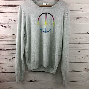 Gap peace sign sweater